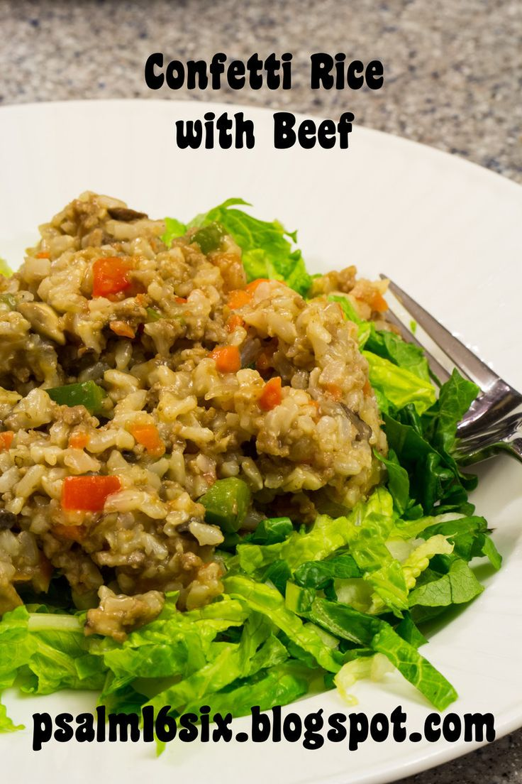 Confetti Rice with Beef ~ One-Dish Meal! | make this/try this for din ...