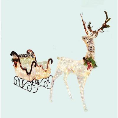 lighted reindeer and sleigh set happy holidays pinterest. Black Bedroom Furniture Sets. Home Design Ideas