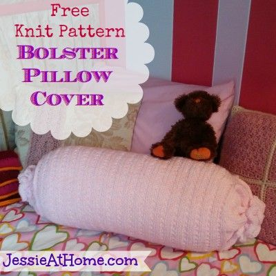 Bolster Pillow Cover Knit Pattern Intermediate Skill Level Designed by