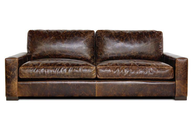worn leather sofa alabama house pinterest