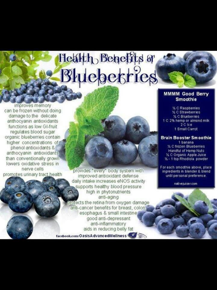 Benefits of blueberries health and body pinterest