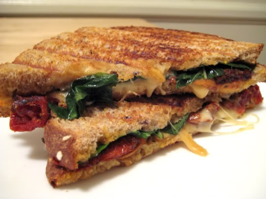 Eating Well – Grilled Smoked Mozzarella Sandwiches
