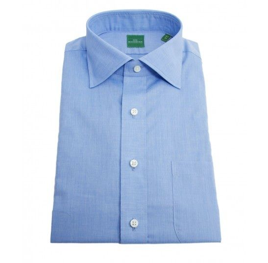 You can't go wrong with a nice spread collar dress shirt ...