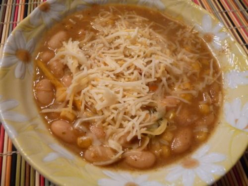 Southwest Shredded Chicken 3 Bean Chili Recipe — Dishmaps