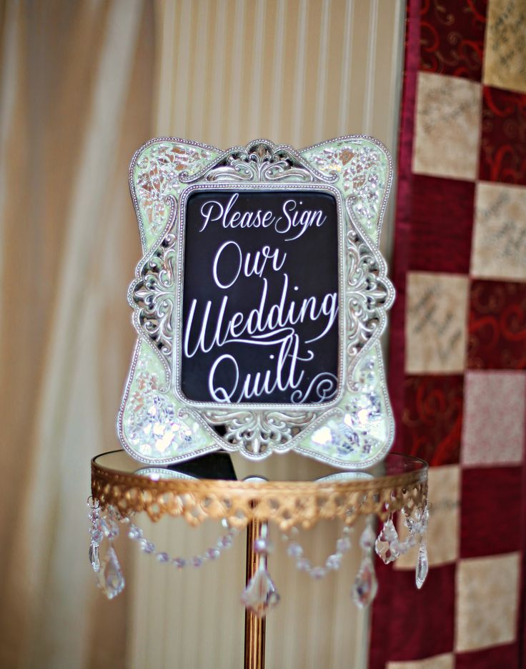 Please Sign Our Wedding Quilt sign | My Pinterest Inspired ...