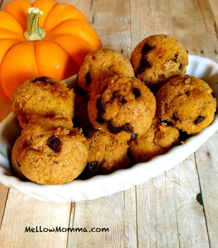 Paleo Pumpkin Donut Holes with Homemade Chocolate Chips MellowMomma ...