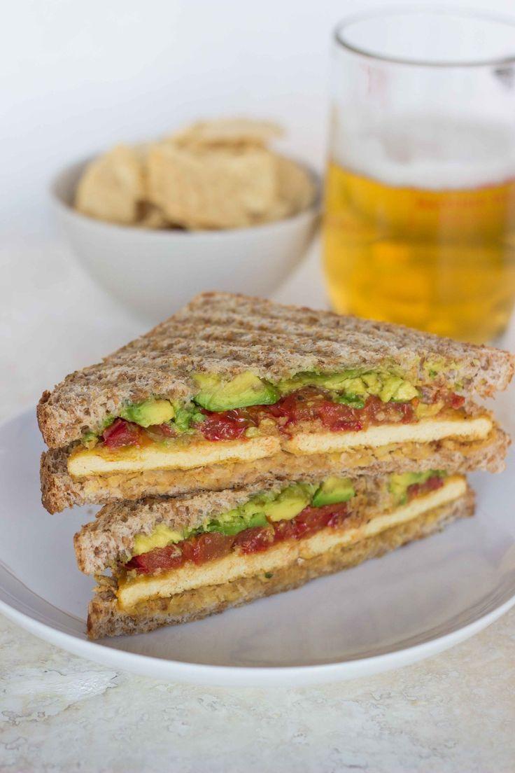 "Chickpea, Avocado and Roasted Tomato Sandwich with ""Cheesy"" Tofu ..."