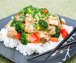 Kung pao tofu. Less celery, more broccoli. Maybe less water, too, and ...