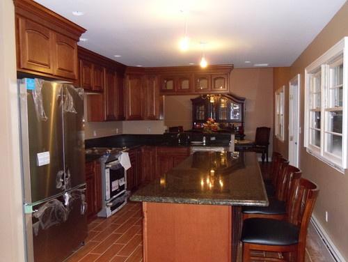 Narrow Kitchen Kitchen Island Kitchen Improvement Ideas