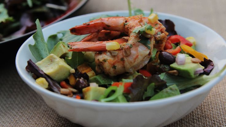 Shrimp and Avocado Salad with Spicy Cilantro Lime Dressing #salad ...