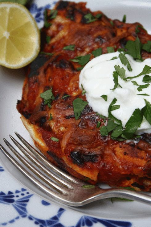 ... Potato Black Bean Enchiladas with Roasted Red Pepper Chipotle Sauce