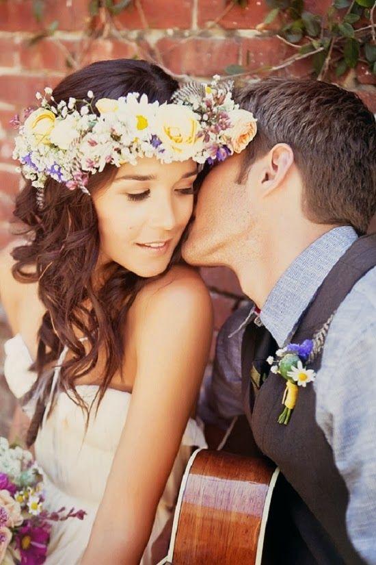Novias con corona de flores the beautiful brides pinterest - Coronas de flore ...