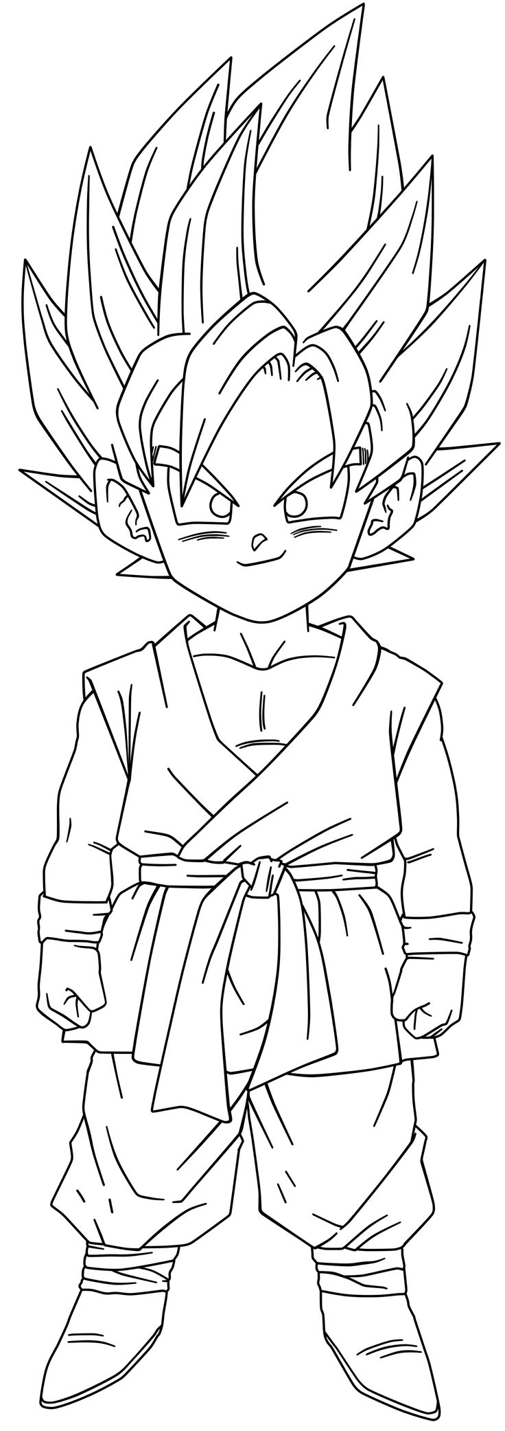 Goku ssj2 free coloring pages for Goku coloring page