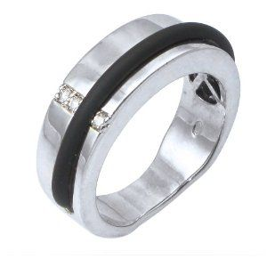 diamond and RUBBER wedding band is one of the 13 men's wedding bands ...