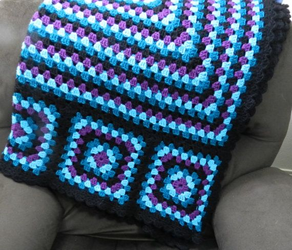 Crochet Patterns Granny Square Afghan : Granny Squares