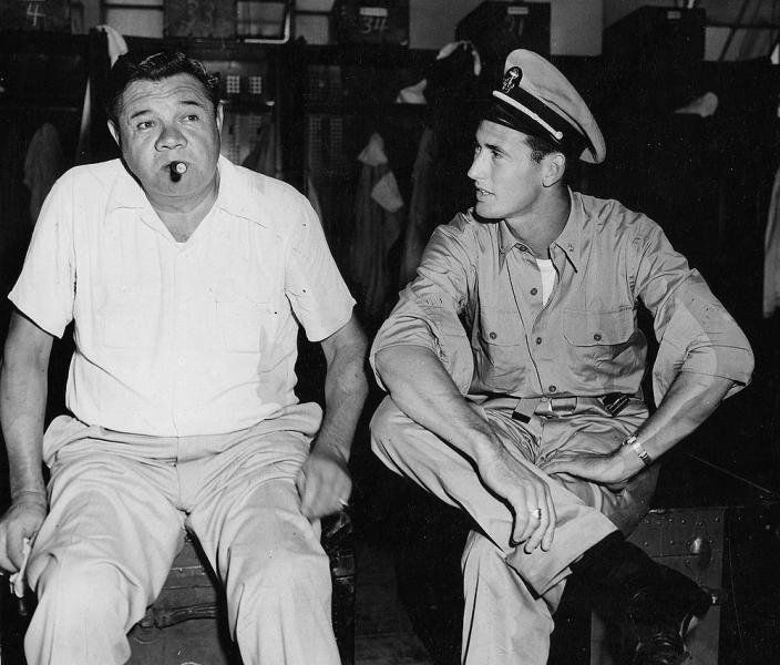 Babe Ruth and Ted Williams | old baseball | Pinterest Babe Ruth Yankees