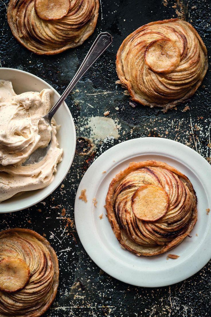 Hot Apple Tart w/ Vanilla Ice Cream | #apple #tart #recipe #Fall # ...
