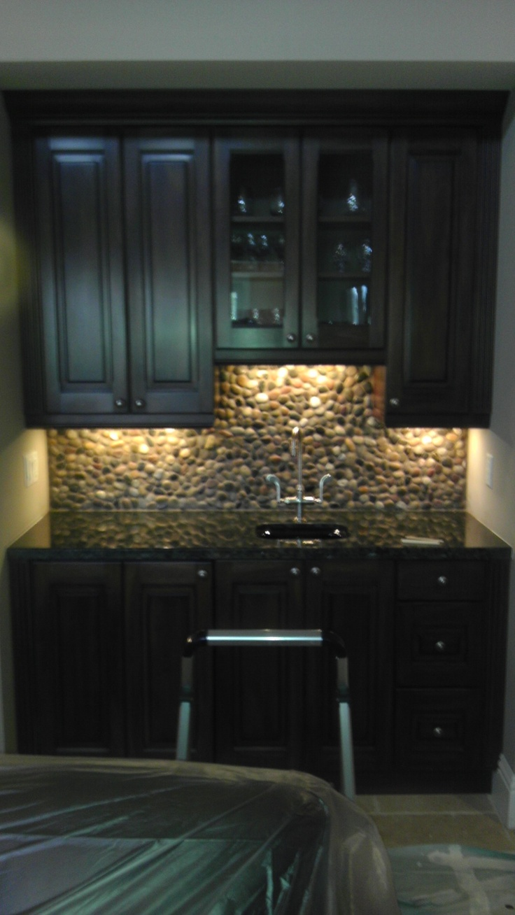faux stone backsplash diy for the home pinterest