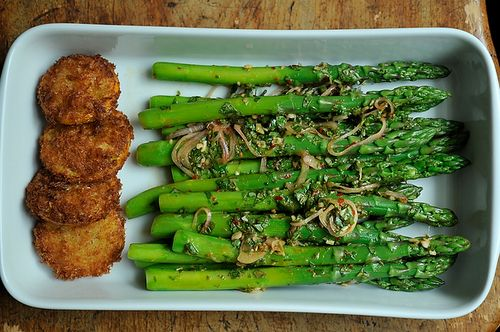 Thai-Inspired Asparagus Salad with Fried Meyer Lemon, vegitarian by ...
