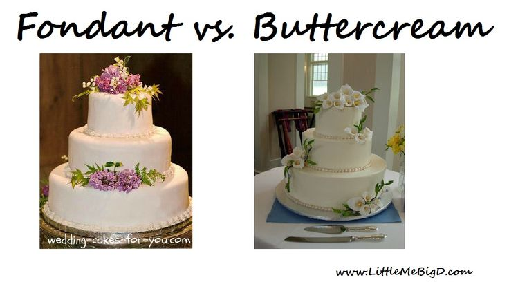 fondant and buttercream cakes