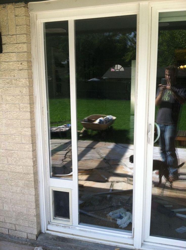 Dog Door Installation Sliding Glass Door Design Pinterest