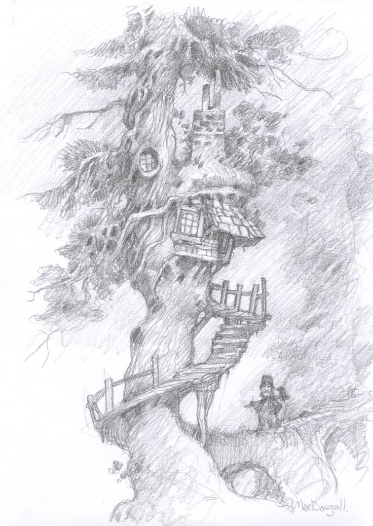 How I imagine The Faraway Tree in Enid Blyton novels
