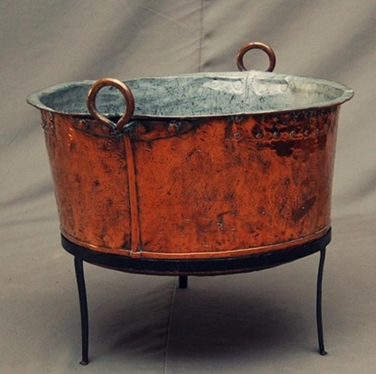 Vintage Laundry Tub : Antique Swedish copper laundry tub - 1870 Vintage alright ...