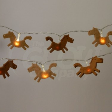 20 Led Felt Horse String Lights Western Party Pinterest