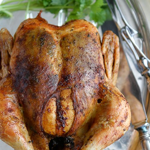 Southwestern Roast Chicken With Cumin, Chili Pepper & Cilantro Recipes ...