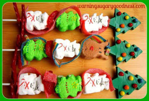 Christmas Peep Kebabs | Cute Marshmallow | CutestFood.com