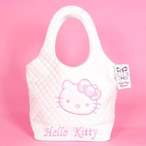 Hello Kitty Tote Bag Shopping Handbag Leatherette « Only Women's Clothing $55.90