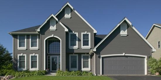 Dark grey siding dream home pinterest for Dark gray siding house