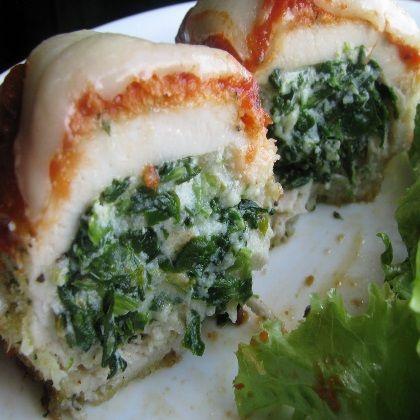 Chicken Rollatini with Spinach alla Parmigiana Recipe, stuffed chicken ...