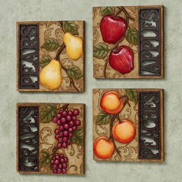 Natures Gifts Fruit Wall Plaque Set plaque Pinterest