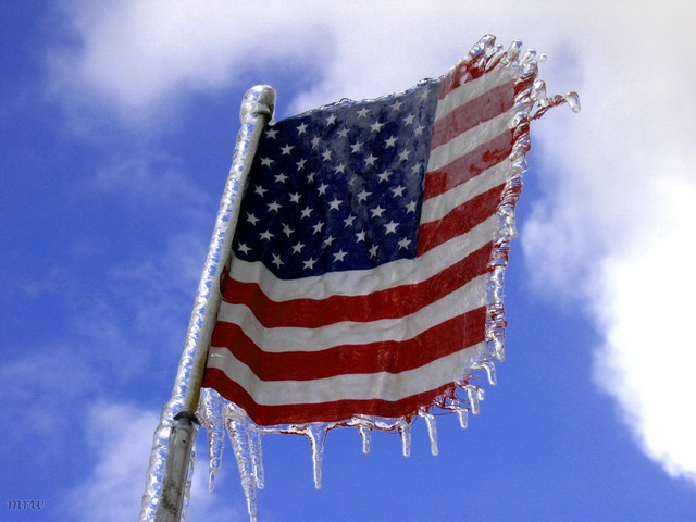 american flag frozen the day after tomorrow