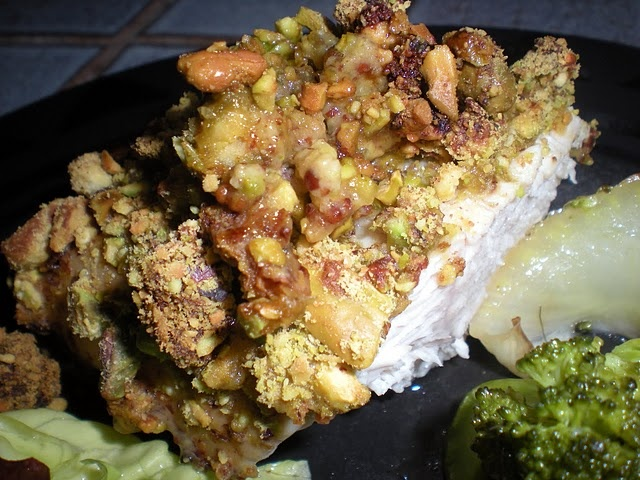 Rosemary Skewered Pistachio Encrusted Chicken Recipe — Dishmaps
