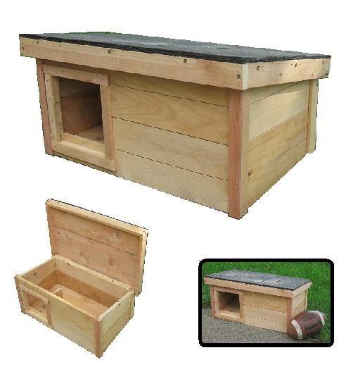 Cedar Wooden Outdoor Cat House Shelter Home LEFT by ArkWorkshop, $69 ...