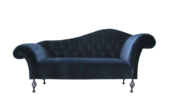blue velvet sofa or chaise longue for the home pinterest