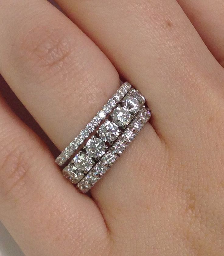 Stacked Eternity Bands From Adiamor One For Him One For God One For
