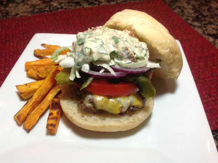 Fajita Burger from GetRealWichita!! | Food creations and recipes...…