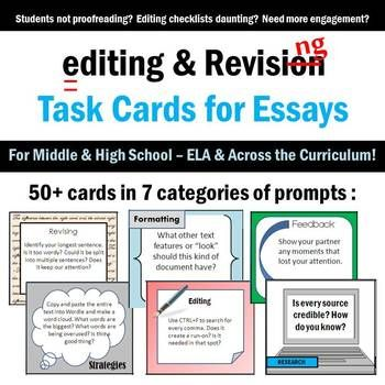 Anchor Chart for revising essays
