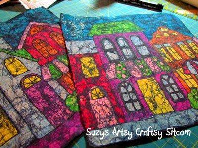Making Batik Fabric with Crayons |