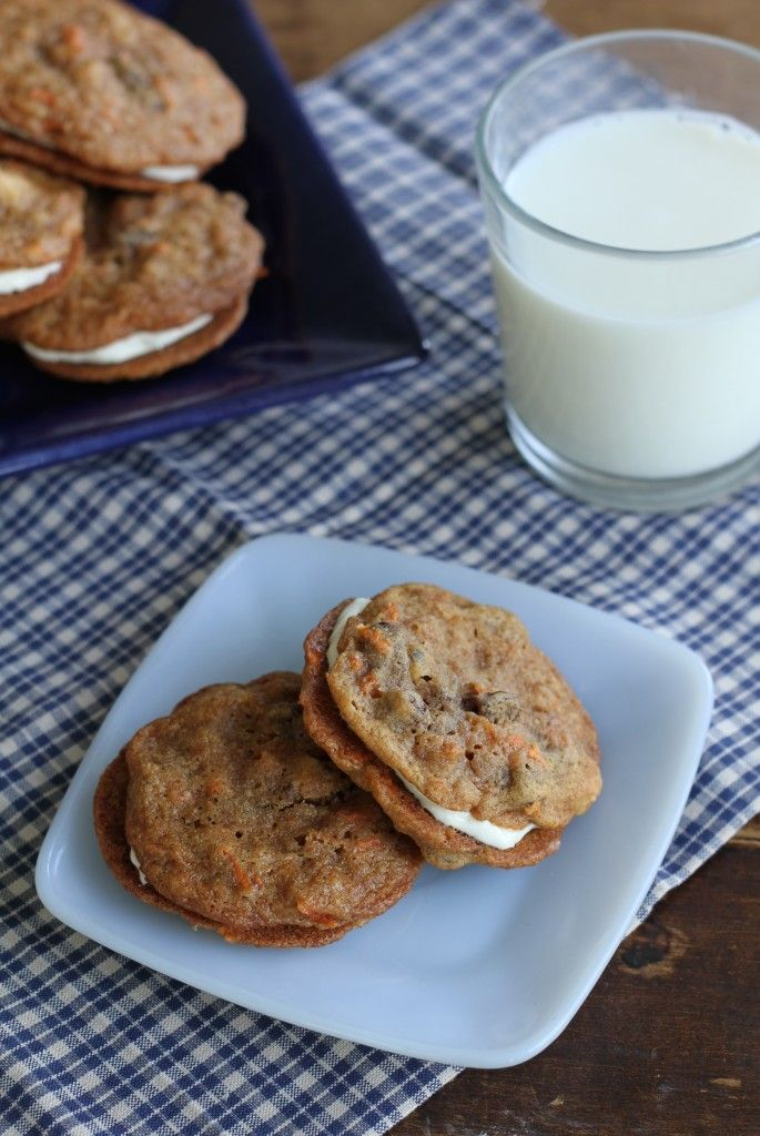 Inside Out Carrot Cake Cookies | Brittany's Pantry