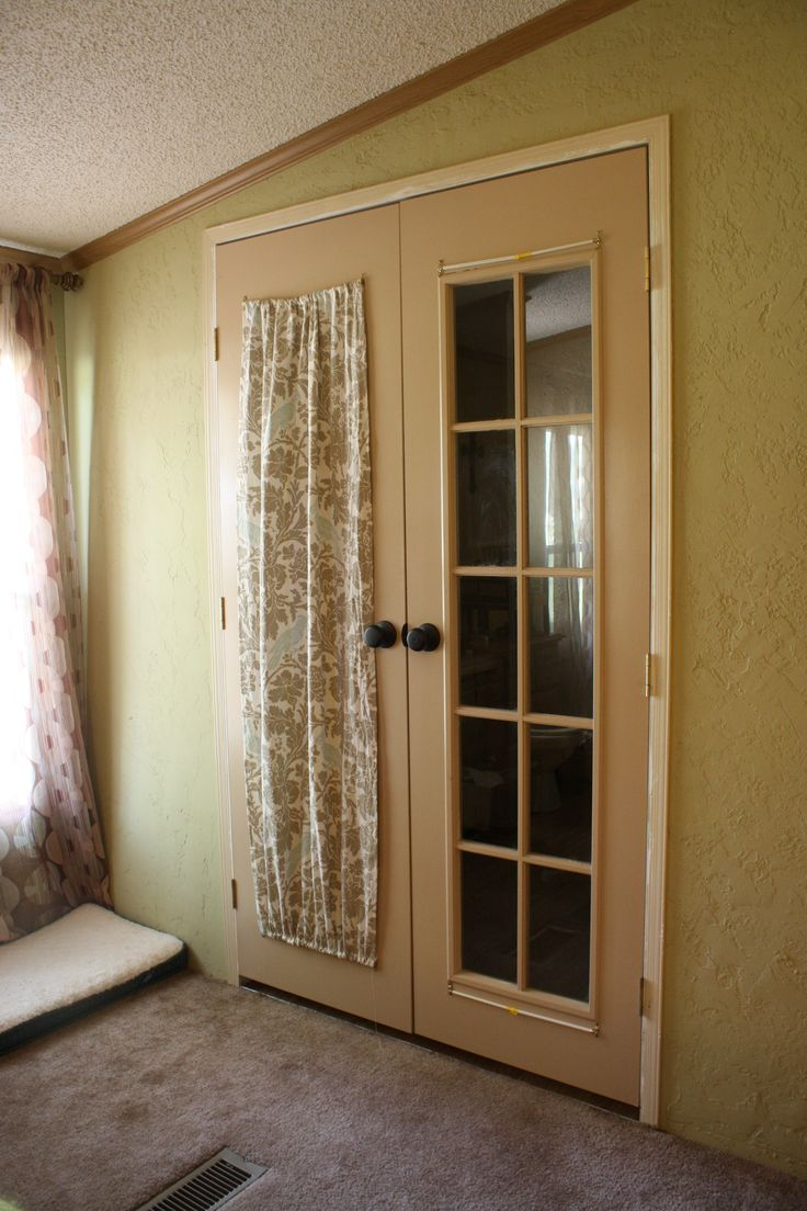 how to make french door curtains dine in pinterest. Black Bedroom Furniture Sets. Home Design Ideas