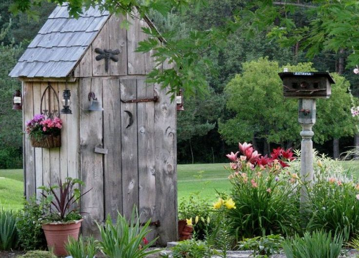 Cute Backyard Gardens : Cute Garden Shed for storing tools we use in the garden Love the