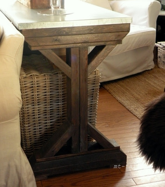 DIY X Base Farmhouse Console Table Home DIY Decor