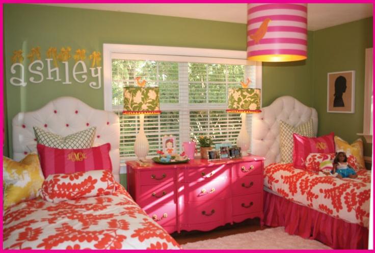 cute pink and orange girls room l0ve pinterest