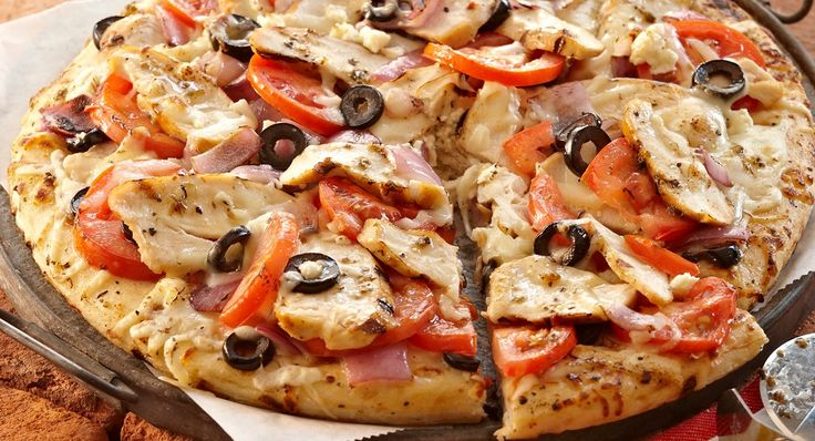 Grilled Greek Chicken Pizza with Lawry's Marinade. We're calling ...