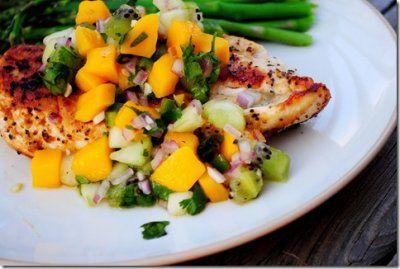 Key West Grilled Chicken with Mango Salsa & Cilantro-Lime Cauliflower ...