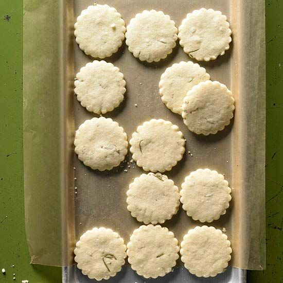 Rosemary Lemon Shortbread Cookies Recipe — Dishmaps